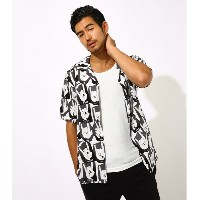 FUN GRAPHIC PATTERNED SHIRT 柄BLK