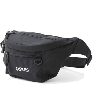 SILAS SILAS EMBROIDERY FANNY PACK MINI サイラス バッグ ウエストポーチ ブラック ネイビー【送料無料】
