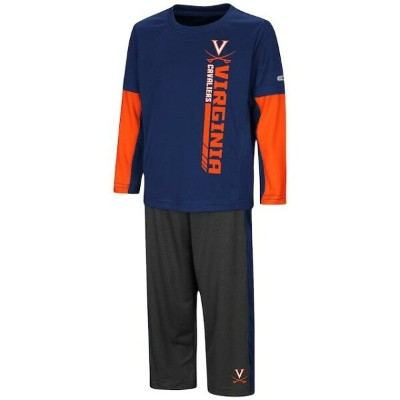 Colosseum Virginia Cavaliers Toddler Navy/Orange We Got Us Long Sleeve T-Shirt and Pants Set キッズ