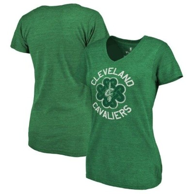 Fanatics Branded Cleveland Cavaliers Women's Green St. Patrick's Day Luck Tradition Tri-Blend V...