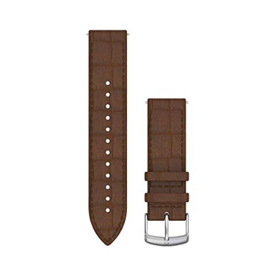 GARMIN(ガーミン) Quick Release バンド 20mm Dark Brown Embossed Italian Silver Leather 010-12691-1D