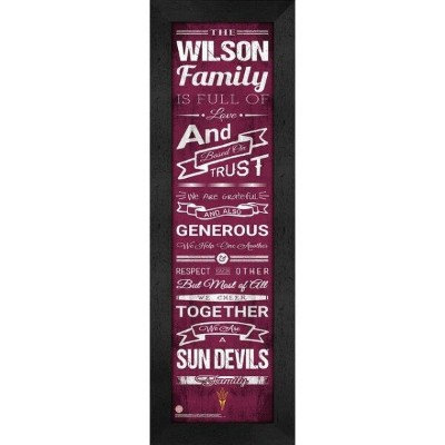 Arizona State Sun Devils Personalized Family Cheer Framed Print ユニセックス
