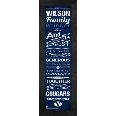 BYU Cougars Personalized Family Cheer Framed Print ユニセックス