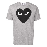 Comme Des Garçons Play ハートプリント Tシャツ - グレー