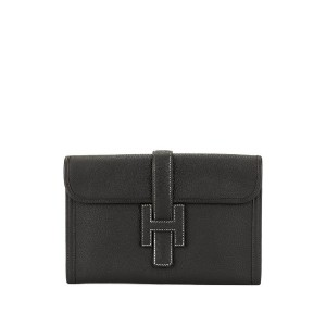 Hermès Pre-Owned H ロゴ クラッチバッグ - ブラック
