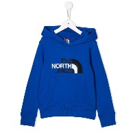 The North Face Kids ロゴ パーカー - ブルー