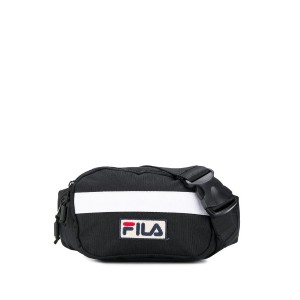 Fila contrast logo belt bag - ブラック