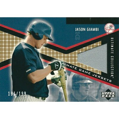 ジェイソン・ジアンビ MLBカード Jason Giambi 2002 UD Ultimate Collection Game Jersey 191/199