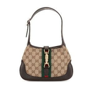 Gucci Pre-Owned Jackie GGパターン Shelly ハンドバッグ - ブラウン