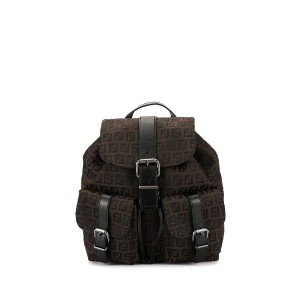 Fendi Pre-Owned ズッカパターン バックパック - ブラウン
