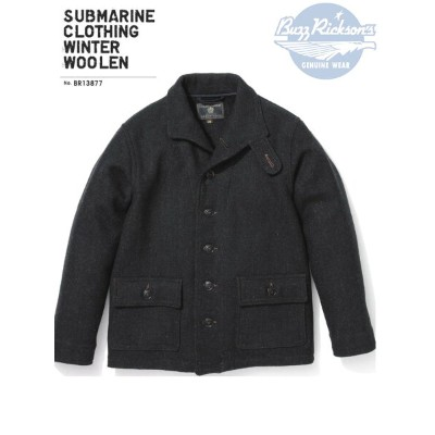 BUZZ RICKSON'S バズリクソンズ SUBMARINE CLOTHING WINTER WOOLEN/BR13877-01)CHARCOAL Made in Japan