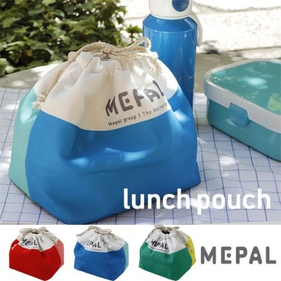 MEPAL INSULATED LUNCH POUCH メパル インスレーテッド ランチポーチ【簡易保冷 ランチバッグ 弁当袋 弁当入れ】