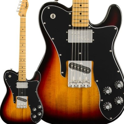 Squier by Fender Classic Vibe '70s Telecaster Custom Maple Fingerboard 3-Color Sunburst エレキギター...