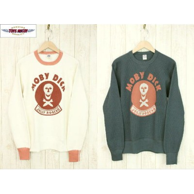 """TOYS McCOY PRODUCT トイズマッコイプロダクト BIG WAFFLE CREW NECK SHIRT JOLLY ROGERS """"MOBY DICK"""" ビッグワッフルサーマルTEE..."""