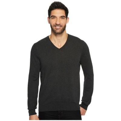 ペリー エリス Perry Ellis メンズ トップス ニット・セーター【Classic Solid V-Neck Sweater】Charcoal Heather