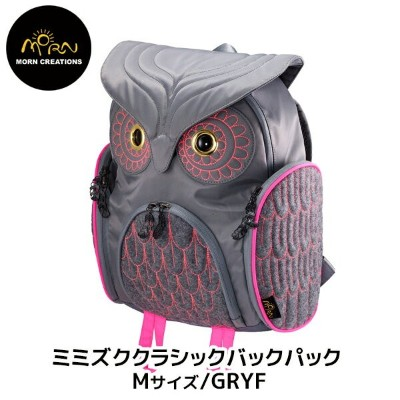 【MORN CREATIONS】The Owls ミミズククラシックバックパック Mサイズ GRYF