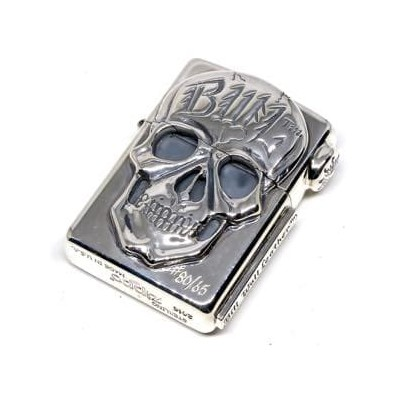 BWL/ビルウォールレザー カスタム New Skull Zippo/Sun Stamp medallion on Flap Brand Skid Plate on Side