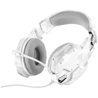20864 TRUST ゲーミングヘッドセット トラスト GXT 322W Gaming Headset - white camouflage