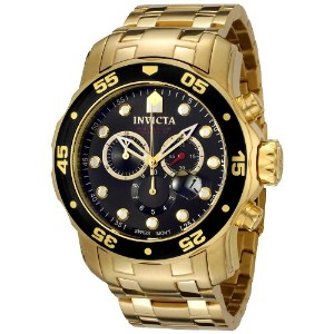 インビクタ Invicta メンズ 腕時計 0072 Pro Diver Collection Chronograph 18k Gold-Plated Watch