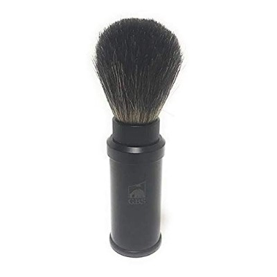 Pure Badger Travel Shaving Brush with Metal Cannister