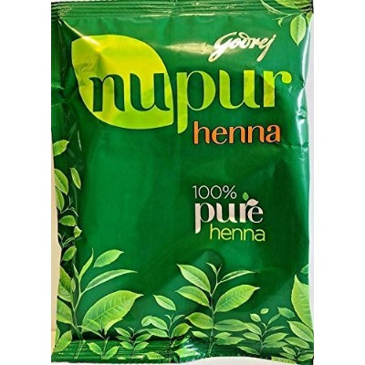 Godrej Nupur Henna Natural Mehndi for Hair Color with Goodness of 9 Herbs, 14.10 Ounce (Ship From...