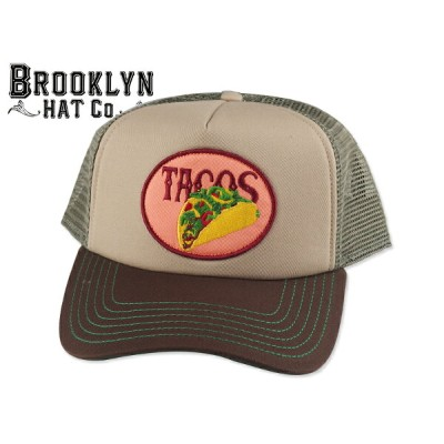 ☆BROOKLYN HAT【ブルックリンハット】TACOS TRUCKER TAUPE メッシュキャップ トープ 17364[スナップバック]