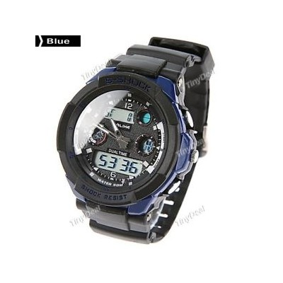 【送料無料】blue like fashion 50m waterproof silicone digital watch batery included