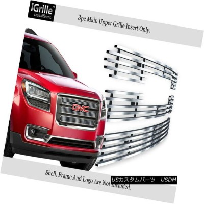 グリル For 2013-2015 GMC Acadia Chrome Stainless Steel Billet Grille with Logo Show 2013-2015 GMC...