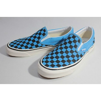 Vansバンズ/19FA・LIFESTYLE/CLASSIC SLIP-ON 98 DX,スリッポン/(ANAHEIM FACTORY) OG BLUE NEON/CHECKERBOARD...