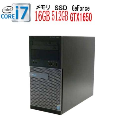 DELL Optiplex 9020MT Core i7 4770(3.4GHz) メモリ16GB DVDマルチ 高速新品SSD512GB GeForce GTX1050Ti HDMI...
