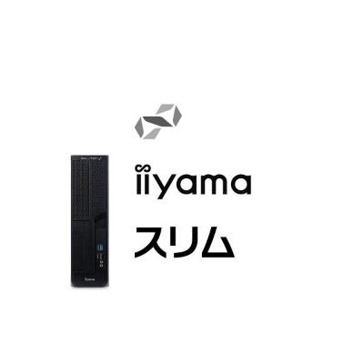 iiyama デスクPC SOLUTION-S0B7-i3-UH-M [Core i3-9100/4GBメモリ/1TB HDD/Windows 10 Pro][BTO]