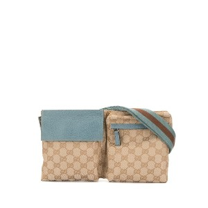Gucci Pre-Owned GG ベルトバッグ - ニュートラル