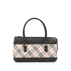 Burberry Pre-Owned チェック ハンドバッグ - ブラウン