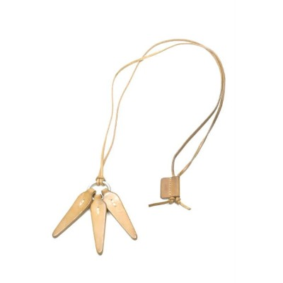 hobo ホーボー Shade Leather Leaves Necklace シェードレザーリーフネックレス ブラウン アクセサリー【中古】【hobo】