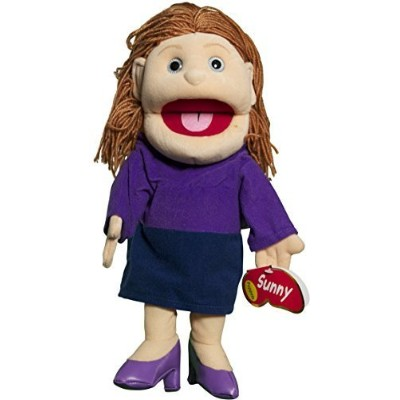 "Sunny Toys 14"" Mom In Purple Dress Glove Puppet by Waypoint Geographic"
