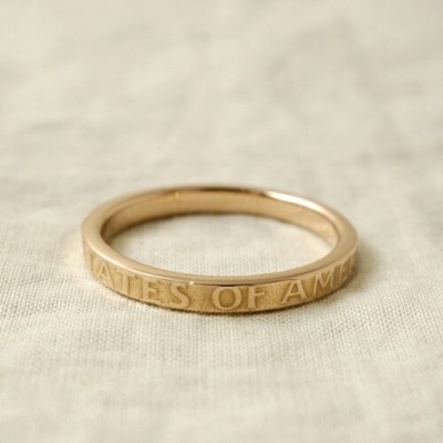 Atease LIMITED COIN 18KPG RING