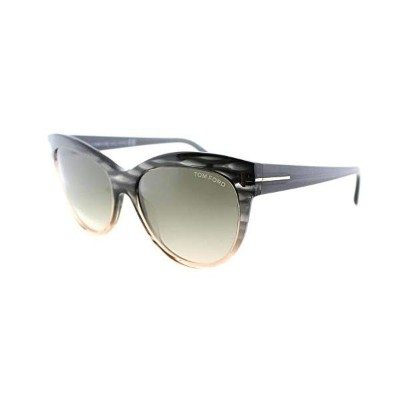 トムフォード サングラス TOM FORD FT04305620P TOM FORD FT0430 Lily Sunglasses Stripped Grey w/Grey Gradient ...