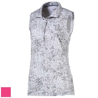 Puma Ladies Floral Sleeveless Golf Polo (#576158)【ゴルフ レディース>トップス】