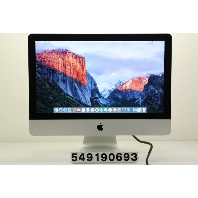 Apple iMac 21.5インチ A1418 Late 2013 Core i5 4570S 2.9GHz/8GB/1TB/21.5W/FHD(1920x1080)【中古】【20190918】