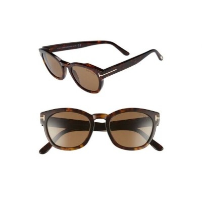 TOM FORD 【 BRYAN 51MM SUNGLASSES DARK HAVANA ROVIEX 】 バッグ 眼鏡 送料無料