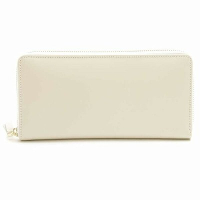 COMME DES GARCONS CLASSIC PLAIN ラウンドファスナー 長財布 Wallet 長札 ホワイト コムデギャルソン【送料無料】