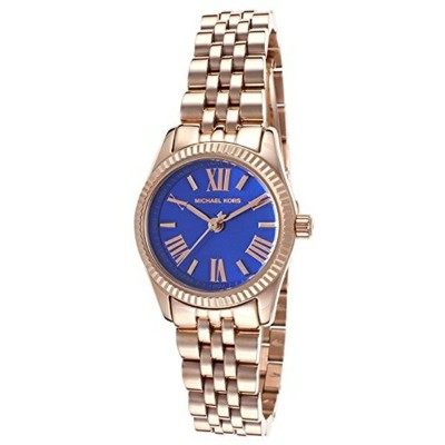マイケルコース Michael Kors レディース 腕時計 時計 Michael Kors MK3272 Women's Lexington Petite Rose Golden Blue...