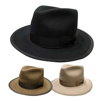 THE H.W.DOG & co. ドッグ POINT HAT ポイント ハット ソフトハット 帽子 3色(BLACK/BROWN/BEIGE)