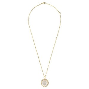 IPPOLITA 18kt yellow gold medium Lollipop mother-of-pearl and clear