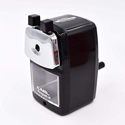 Carl Angel-5 Pencil Sharpener, Black, Quiet for Office, Home and School by Carl [並行輸入品]