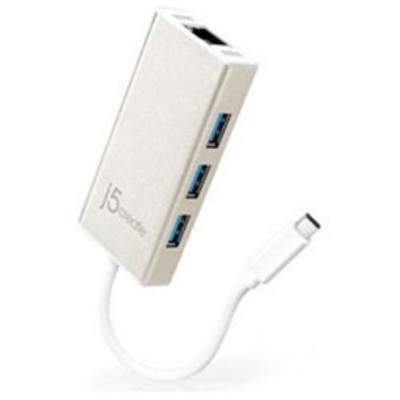j5 create JCH471 Type-C to ギガビットイーサネット & USB 3.0 Adapter