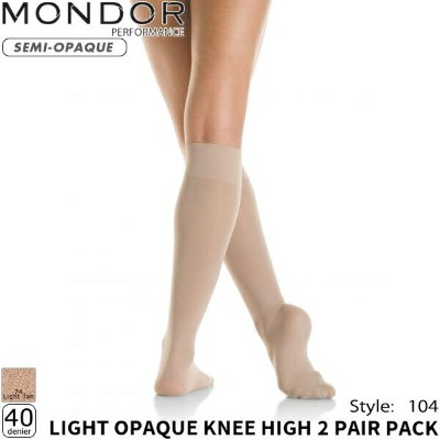 MONDOR ソックス 104 -LIGHT OPAQUE KNEE HIGH(2pair)【ラッピング可】 -NP/TC