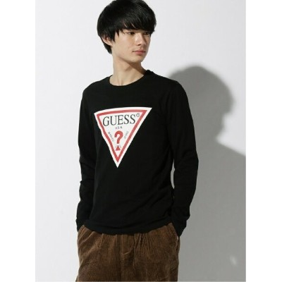 【SALE/30%OFF】GUESS GUESS/MEN'S L/SLV TEE SHIRT ビリゴ カットソー Tシャツ ブラック ホワイト