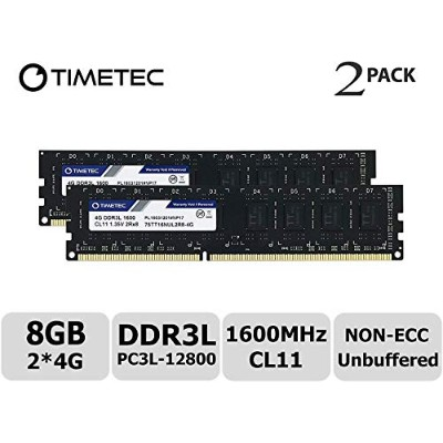 Timetec Hynix IC デスクトップPC用メモリ DDR3L 1600 MHz PC3L 12800 1.35V/1.5V CL11 2Rx8 240 Pin UDIMM 永久保証 ...