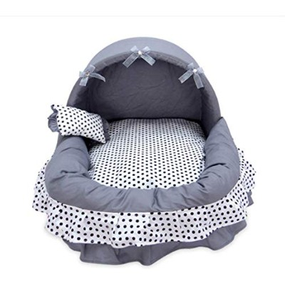 Luxury Princess Dog Bed Warm Fleece Lace Puppy House Pet Cozy Nest Kennel Sleep Cushion Washable...